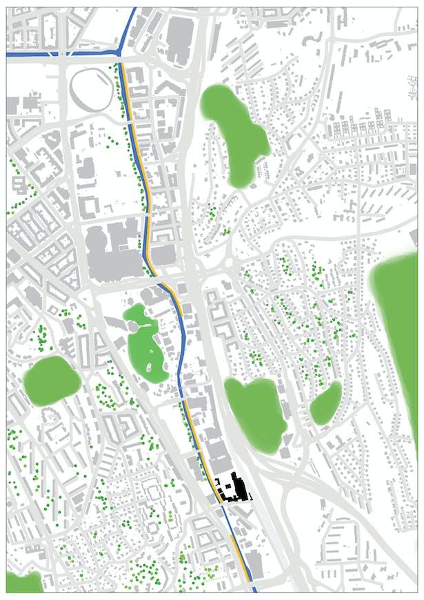 Analyze part I: 1:10000 city green map