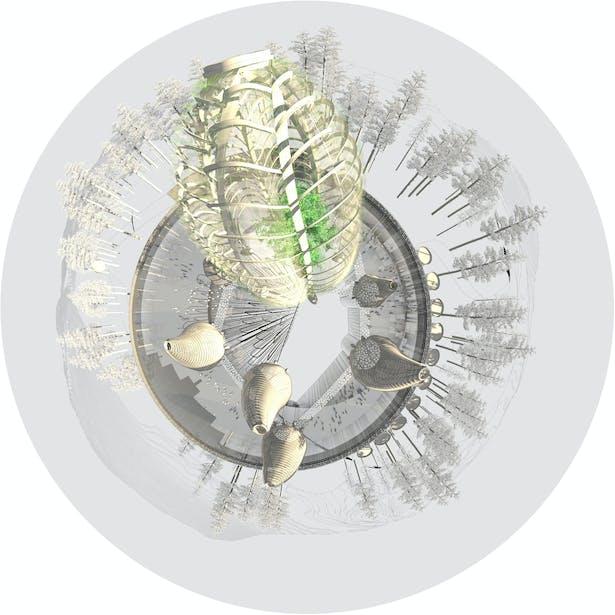 Fisheye rendering_Hello Nature - Hello Yggdrasil