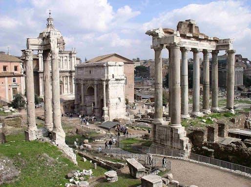 The Roman Forum, via wikimedia.org.