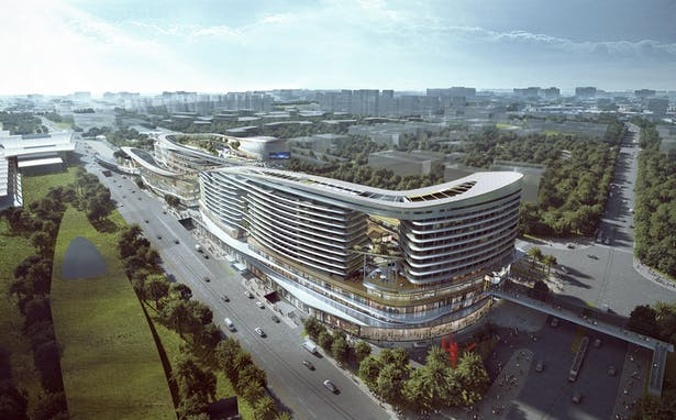 Sanya Integrated Commercial and Transportation Hub, Sanya, China, by Aedas