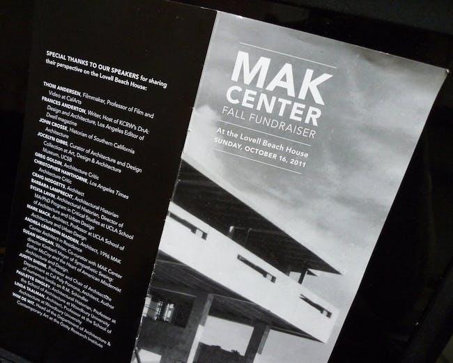 MAK Center Fall 2011 Fundraiser via Orhan