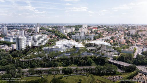ECOTONE by OXO Architectes, Duncan Lewis - Scape Architecture, Parc Architectes, Triptyque Architecture. © Luxigon