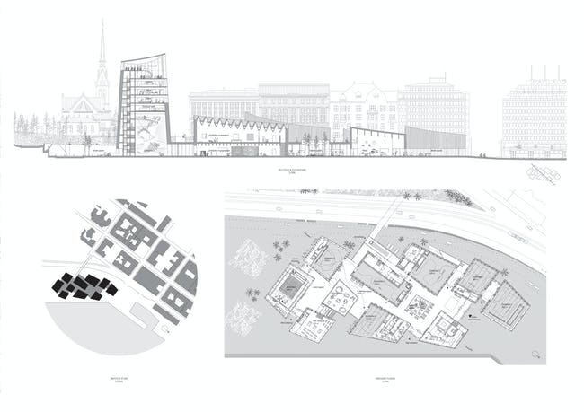 drawings from Moreau Kusunoki's 'Art in the City' concept board
