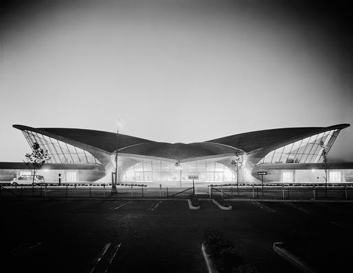 Ezra Stoller's 'TWA Terminal at Idlewild Airport, Eero Saarinen' New York, NY, 1962. Image: Yossi Milo Gallery, New York.