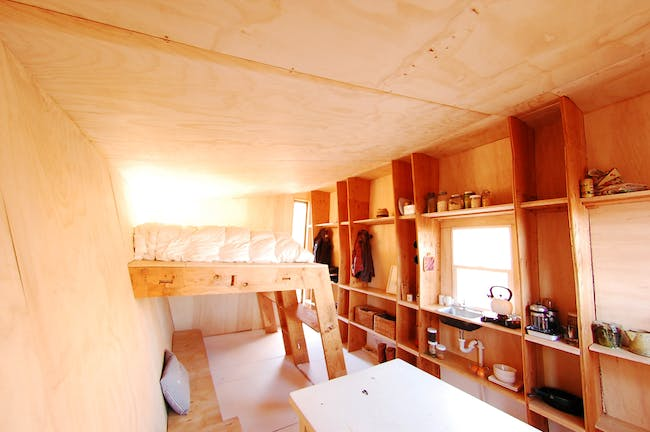 Interior of FOUNDhouse in Bluff. Photo credit- Lacy Williams and Patrick Beseda.