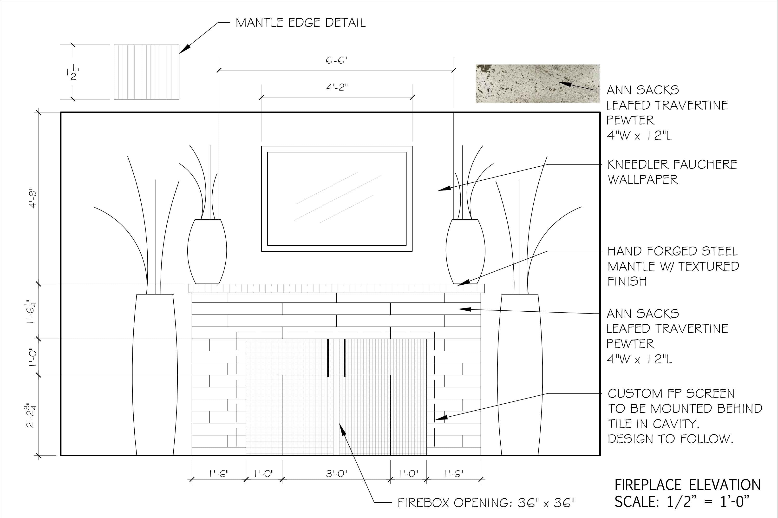 Fireplace Elevation Stephanie Mcglone Archinect