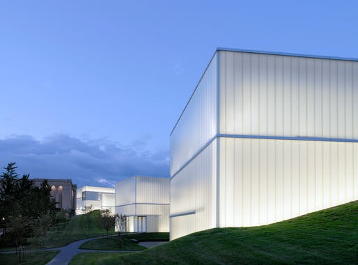 Nelson-Atkins Museum of Art Bloch Building Addition in Kansas City, MO by Praemium Imperiale Award laureate Steven Holl. Photo: Andy Ryan