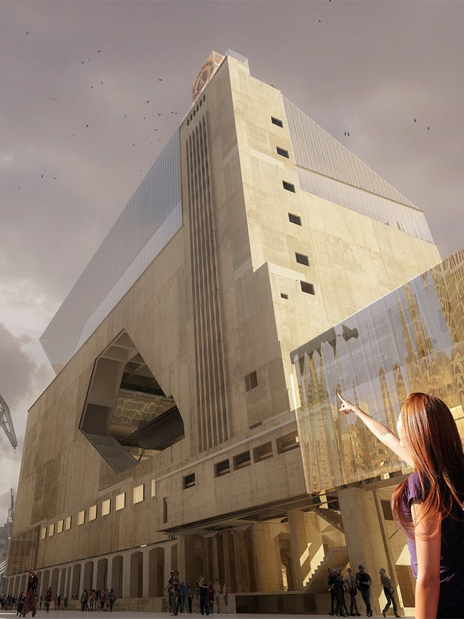 Exterior rendering of the proposed museum (Image: Labtop)