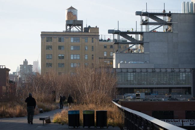 The north side of the building, as seen from the High Line. Credit: Timothy Schenck via the Whitney Museum of American Art