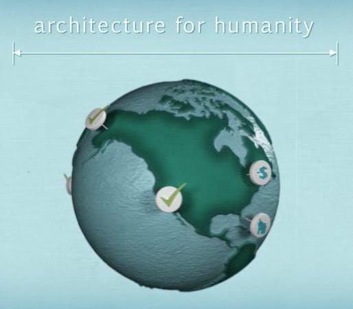 Screenshot from 'About Architecture for Humanity in A Minute:30' video, by Architecture for Humanity.