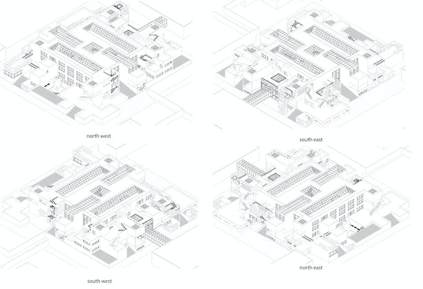 Isometric Views of the Library 360 degrees around