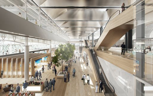 Marseille Provence Airport extension design by Foster + Partners. Photo: Foster + Partners.