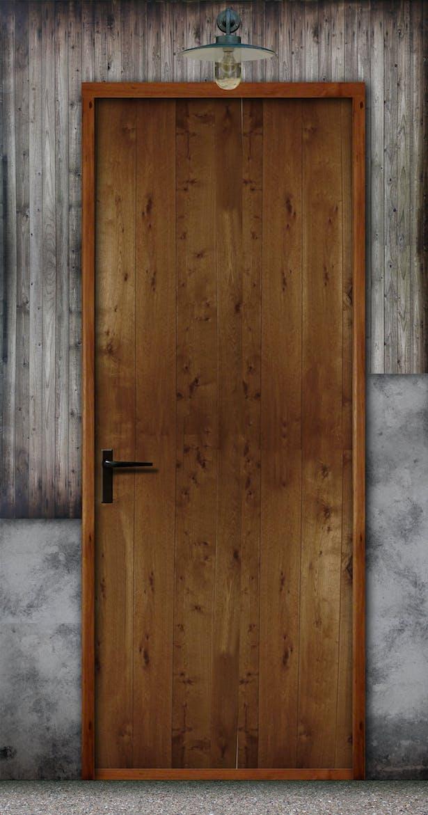 Entrance door. Student house.