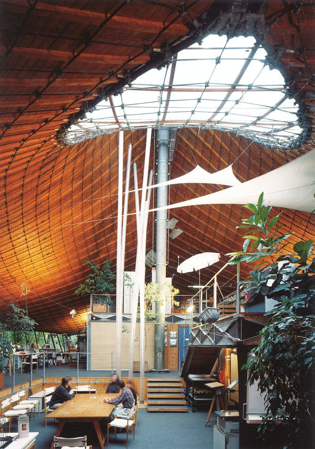 Institute for Lightweight Structures, interior, 1967, University of Stuttgart in Vaihingen. Photo © Atelier Frei Otto Warmbronn