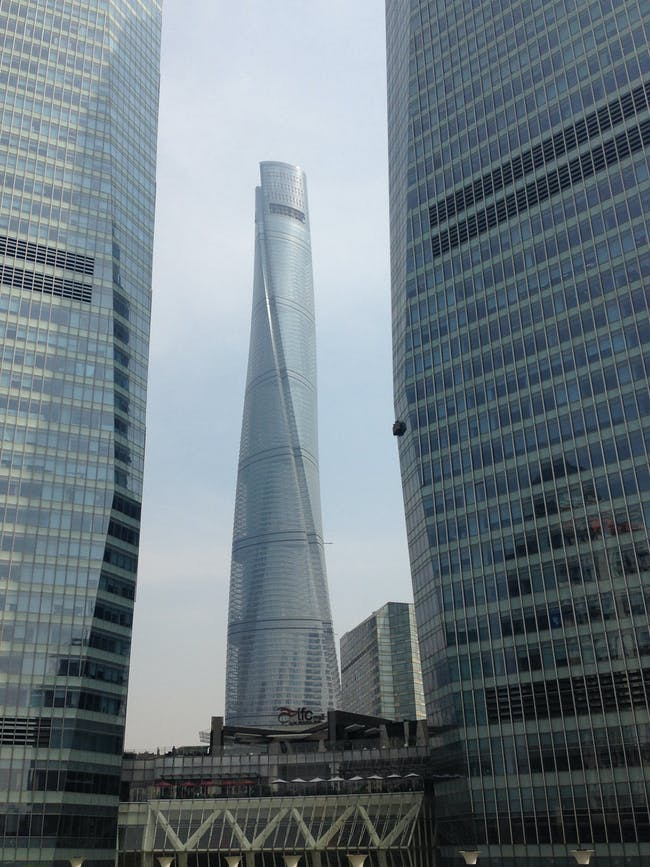 View of the Shanghai Tower from Shanghai IFC (International Finance Centre). Photo courtesy of Andrei Zerebecky.