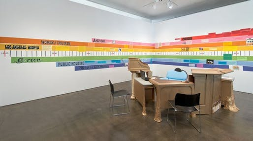 """The """"Dream Home Resource Center"""" is on exhibit at the Hammer Museum in LA until Aug. 18. Photo by Brian Forrest."""