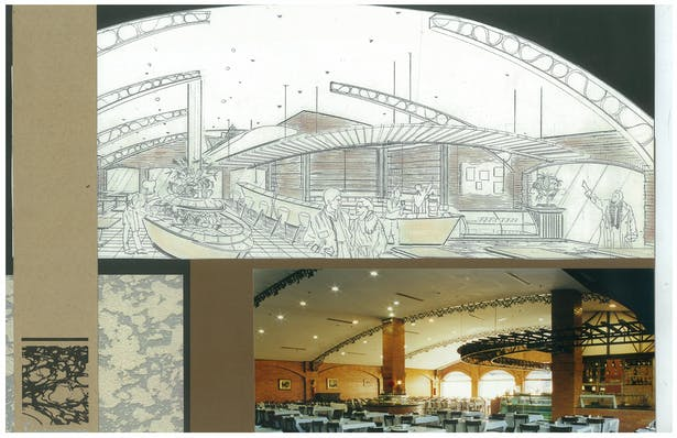 2000 Brazilian Steakhouse   Interior Hand-Sketch