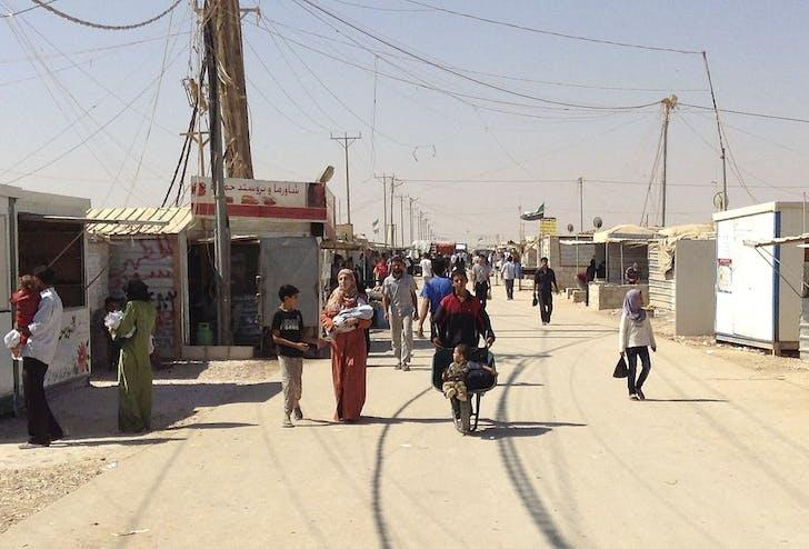 Zaatari refugee camp, Jordan. Image: Wikipedia.