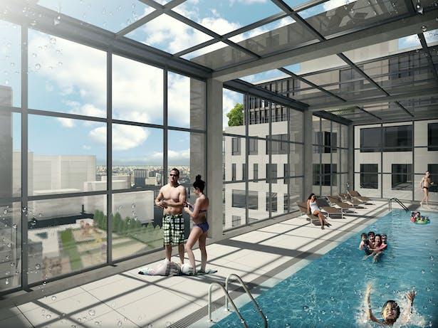 Communal pool ambiance