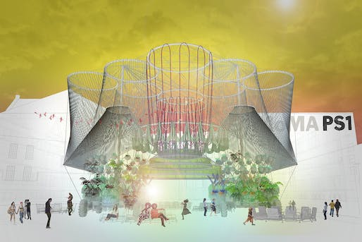 A rendering of COSMO by Andrés Jaque/Office for Political Innovation for MoMA PS1. Credit: Andres Jaque/Office for Political Innovation.