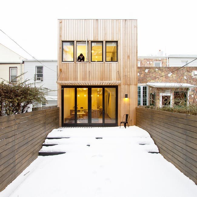 Brooklyn Row House 2 in New York, NY by Office of Architecture; Photo: Ben Anderson Photo