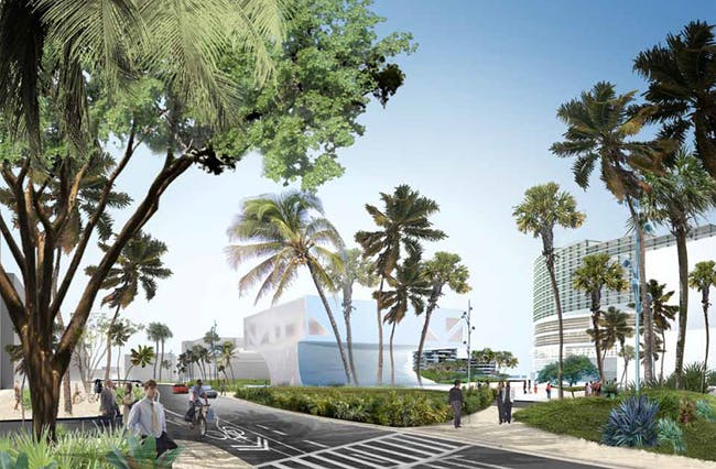 View from Soundscape Park to 17th Street Median, Image © OMA