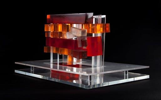 ZHA, Lois and Richard Rosenthal Center for Contemporary Art Cincinatti, Volumetric Study in resin, 1997-2003