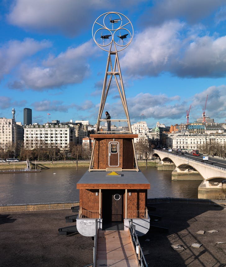 A Room for London rooftop installation, in collaboration with Fiona Banner. Photo: Charles Hosea.
