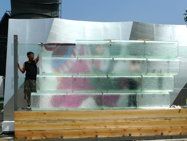 Facade mock-up - Beijing (Image courtesy of Gehry Partners)
