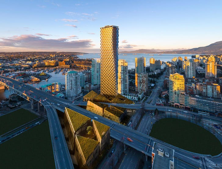 A rendering of the 'Vancouver House' by BIG. Image via Westbank.