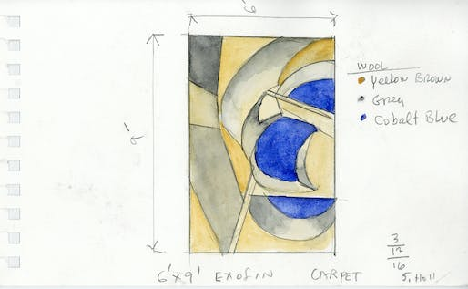 Ex of IN Carpet, watercolor by Steven Holl.