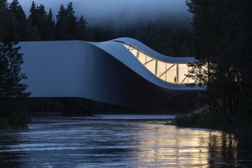 Exterior: The Twist Museum, Kistefos Sculpture Park, Jevnaker, Norway. Photographer credit: Laurian Ghinitoiu/APA19/Sto.