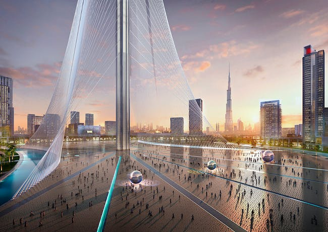 Rendering of the Calatrava-designed Observation Tower at the Dubai Creek Harbor development. (Credit: Emaar Properties)