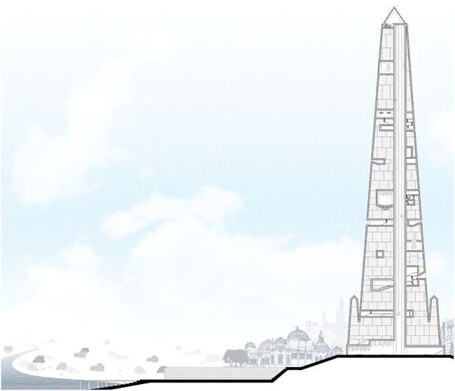 Constant-Désiré Despradelle's 'Beacon of Progress'. Courtesy of The Atlantic Cities.