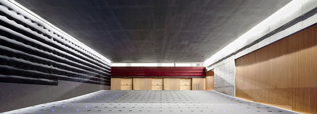 One of the two cinemas. Floor -2 (Photo: Adrià Goula)