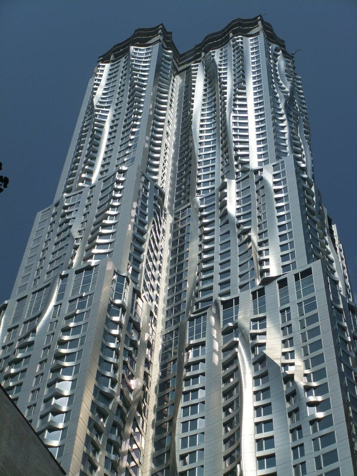 Manhattan's Spruce Street tower, designed by upcoming Goldberger biography subject, Frank Gehry. Image via flickr/Gretchen.