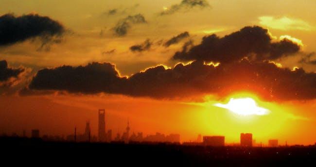 The city on the horizon