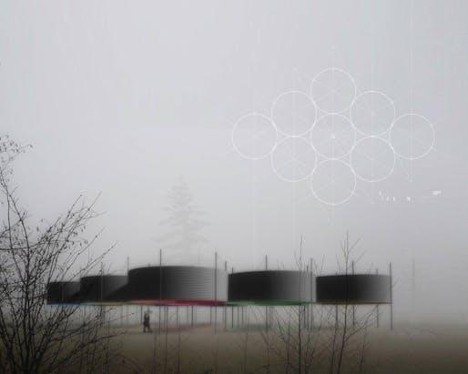 "2018 City of Dreams Pavilion finalist: ""Oculi"" by Austin+Mergold."