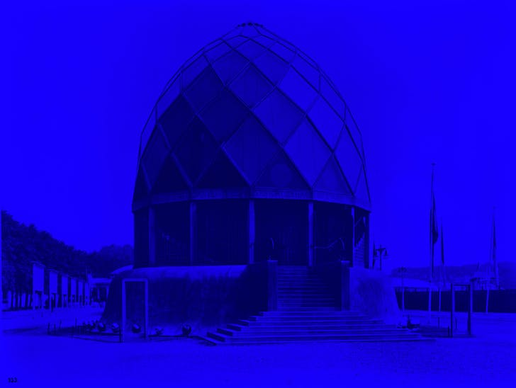 Original image: The Glass Pavilion by Bruno Taut, Cologne Werkbund Exhibition, Baukunstarchive, Akademie Der Künste, Berlin.