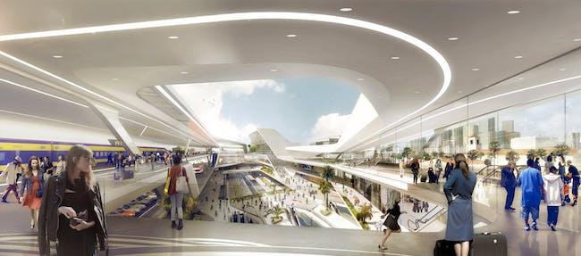 Los Angeles Union Station Master Plan, interior (Image: UNStudio)
