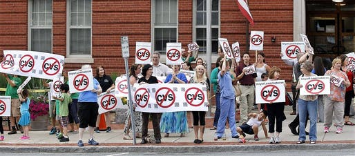 Boise residents protest plans for a CVS Pharmacy that would lead to the eviction of 23 families