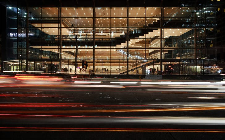 Four Seasons Centre for the Performing Arts, west facade, Toronto, ON © Sam Javanrouh