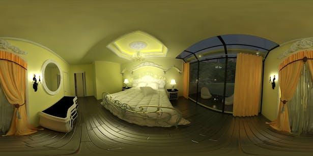 Antic Bedroom 360 design