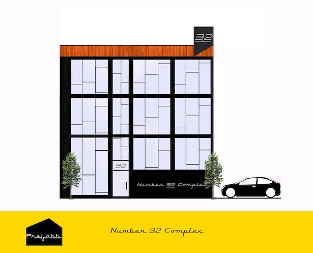 Draft for a 3-story Flakken Bloc Construction