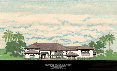 Residence at: 460 Leucadendra Dr., Gables Estates, Coral Gables, FL; Begining Construction Documents