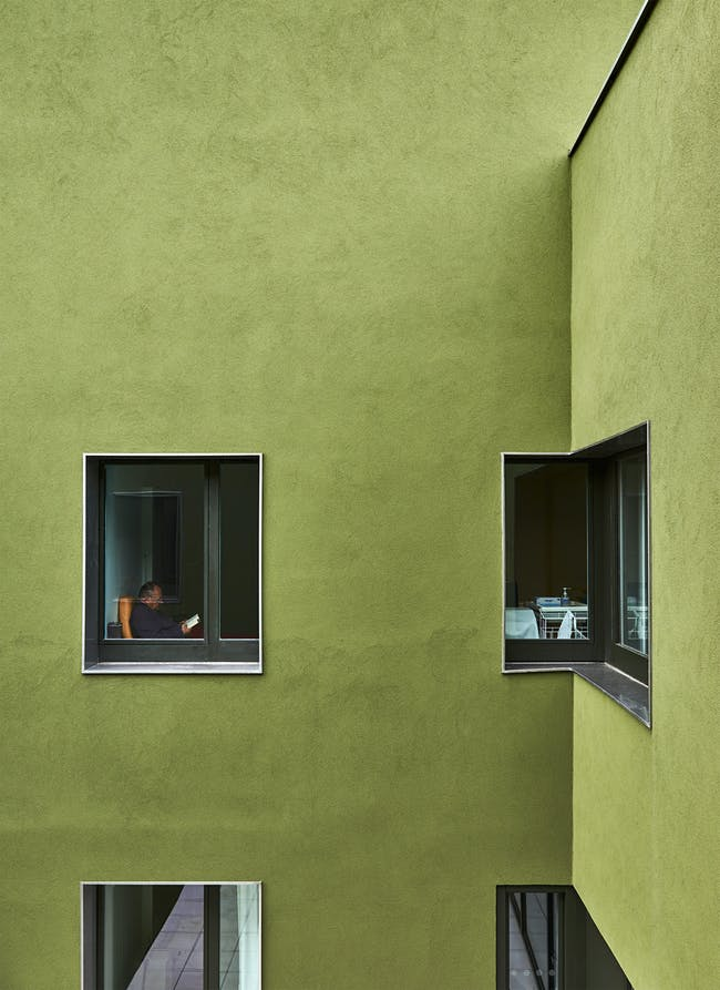 Home for dependent elderly people and nursing home in Orbec, France by Dominique Coulon & associés; Photo: Eugeni Pons