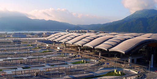 Hong Kong-Zhuhai-Macao Bridge and Hong Kong Port Passenger Clearance Building, Hong Kong, SAR, 2019 by Aedas and Rogers Stirk Harbour & Partners.