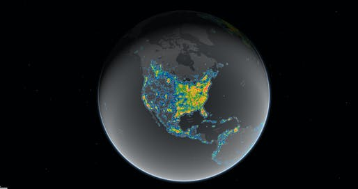 Light pollution now blots out the Milky Way for eight in ten Americans according to a recent study. Credit: Falchi et al., Science Advances[link TK]; Jakob Grothe/National Park Service, Matthew Price/CIRES and CU-Boulder.