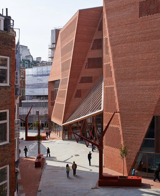 Saw Swee Hock Student Centre, London School of Economics in London, United Kingdom by O'Donnell + Tuomey. Photo: Dennis Gilbert.