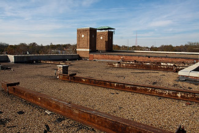 BEFORE: rooftop, Bancroft School project. Photo credit: Kimberly Cadena.
